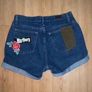 Customized Vintage Lee jean shorts